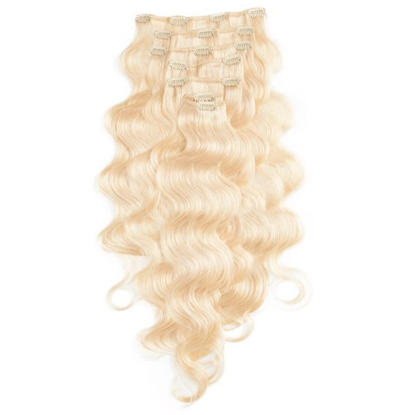 Clip-on Pidennykset Laineikas 7 pieces 10.8 Light Blonde 60 cm