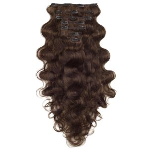 Clip-on Pidennykset Laineikas 7 pieces 2.3 Chocolate Brown 60 cm