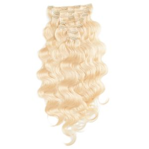 Clip-on Pidennykset Laineikas 7 pieces 8.0 Light Golden Blonde 60 cm