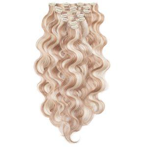 Clip-on Pidennykset Laineikas 7 pieces M7.3/10.8 Cendre Ash Blonde Mix 60 cm