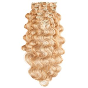 Clip-on Pidennykset Laineikas 7 pieces M7.4/8.0 Summer Blonde 60 cm