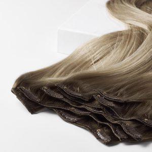 Clip-on Pidennykset Original 7 pieces B2.6/10.7 Dark Ashy Blonde Balayage 50 cm