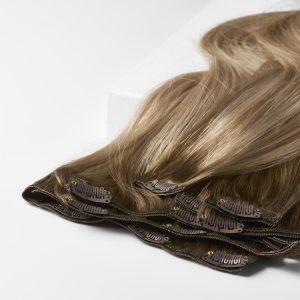 Clip-on Pidennykset Original 7 pieces B5.1/7.3 Brown Ash Blonde Balayage 50 cm