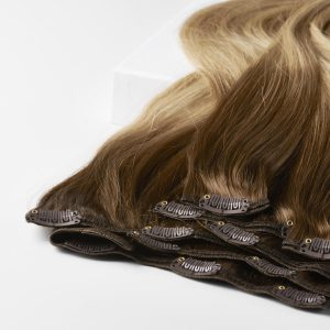 Clip-on Pidennykset Original 7 pieces B5.4/7.2 Cinnamon Blonde Balayage 50 cm