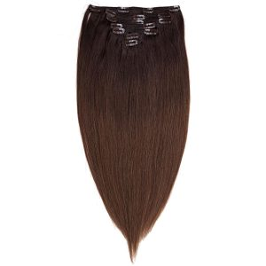 Clip-on Pidennykset Original 7 pieces O2.3/5.0 Chocolate Brown Ombre 40 cm