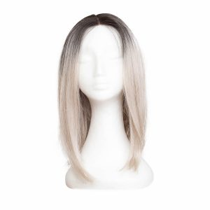 Lace Front -peruukki Lob O1.2/10.5 Black Brown/Grey 40 cm