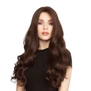 Lace Front -peruukki Long Curly 2.2 Coffee Brown 60 cm
