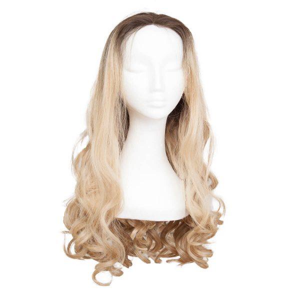 Lace Front -peruukki Long Curly O2.3/9.0 Chocolate Brown/Scandinavian Blond 60 cm
