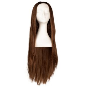 Lace Front -peruukki - Straight Long R2.3/5.0 Chocolate Brown Root 80 cm