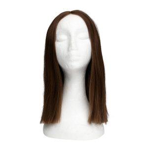 Lace Front -peruukki - Straight Short 5.0 Brown 35 cm
