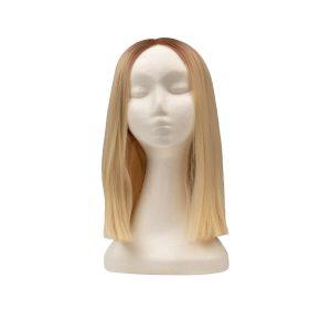Lace Front -peruukki - Straight Short R7.3/10.8 Cendre Ash Blonde Root 35 cm