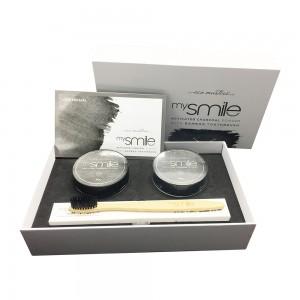 Eco Masters mySmile Aktiivihiilijauhe + Bambuhammasharja - Luontainen Hampaidenvalkaisu Menetelmä - Kirkkaat Hampaat 5 Minuutissa