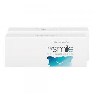 Eco Masters mysmile Hampaiden Valkaisukynä - Hampaiden kotivalkaisu - 2 x 2ml Valkaisukynä - Hoida hampaiden valkaisu kotona - Luonnollinen tuote!