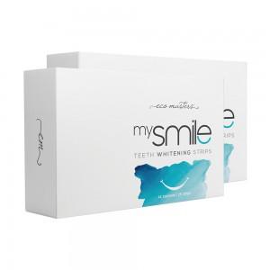 Eco Masters mysmile Hampaiden Valkaisuliuskat - 2 kpl - luonnollinen hampaiden valkaisu - kauniimpi ja valkoisempi hymy - 28 liuskaa