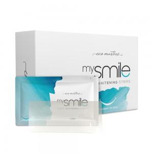 Eco Masters mysmile Hampaiden Valkaisuliuskat - Turvallinen & hellävarainen - 14 Annosta, 28 liuskaa yhteensä - Vegaani-ystävällinen & ei peroksidia