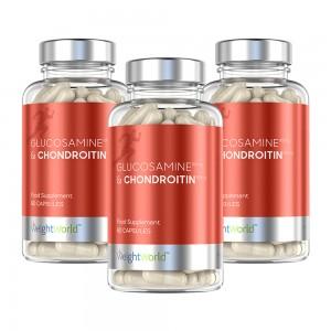 Glukosamiini ja Kondroitiini - Luonnollinen Ravintolisä Nivelien Tukemiseen - 60 kapselia - 3 kpl