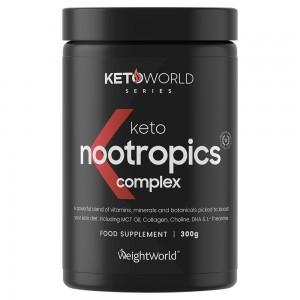 Keto Nootropics Complex 300g - Aivoja tukeva lisä ketodieettiin - Parantaa muistia & keskittymiskykyä - Tukee ketoosia - Vegaaniystävällinen