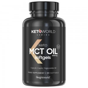 MCT Öljy Kapselit - Keto-ystävällinen ravintolisä painonhallintaan - 90 kapselia - WeightWorld