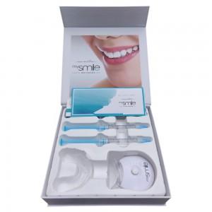 mysmile Hampaiden Valkaisu setti - Hampaan Valkaisu Kotona - tehokas Eco Masters kotivalkaisu hampaille - Sisältää Valon, Geelin, Muotin + Sävyoppaan