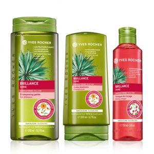 Setti - Kiiltoa antava, sampoo, hoitoaine, huuhteluetikka hiuksil