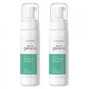 maxmedix HairGenesis Trichoceutical Aktivoiva Shampoo - 2 kpl - Hennoille ja oheneville hiuksille - 222ml pullo - ShytoBuy l
