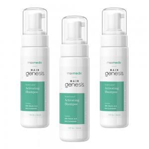 maxmedix HairGenesis Trichoceutical Aktivoiva Shampoo - 3 kpl - Hennoille ja oheneville hiuksille - 222ml pullo - ShytoBuy
