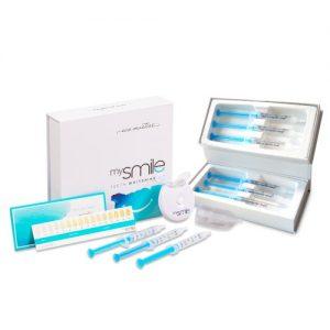 Hampaiden valkaisupaketti - Luonnollinen hampaiden valkaisusetti - Sisältää Eco Masters MySmile hampaidenvalkaisusarjan ja geelit - ShytoBuy