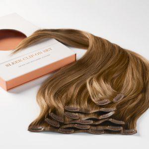 Sleek clip-on set 7 pieces B5.0/8.3 Brownish Blonde Balayage 50 cm