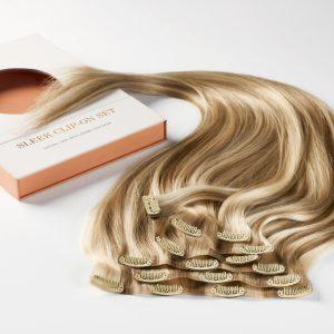 Sleek clip-on set 7 pieces M7.3/10.8 Cendre Ash Blonde Mix 50 cm