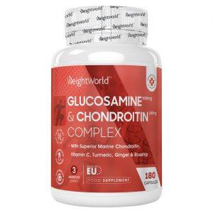 Glukosamiini ja Kondroitiini Kapselit - 1390 mg 180 kpl - 3 kuukaudeksi