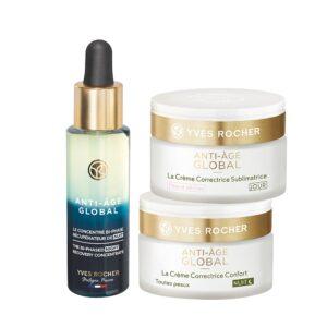 Setti - Anti Age Global - kuiva iho (Seerumi, päivävoide, yövoide